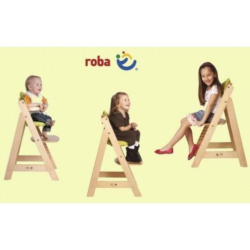 Balta medinė kėdutė vaikui Roba
