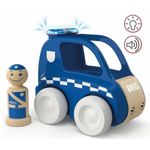 Brio 30337. Policijos automobilis su šviesomis ir garsais