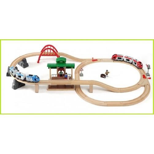 Brio medinė geležinkelio trasa 33512