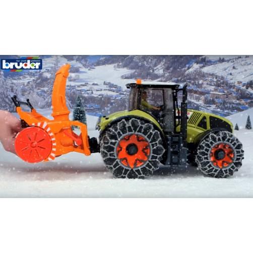 Bruder 03017 Traktorius su sniego valytuvu
