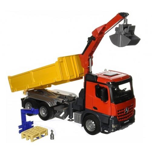 Bruder 03651 Sunkvežimis savivartis su kranu