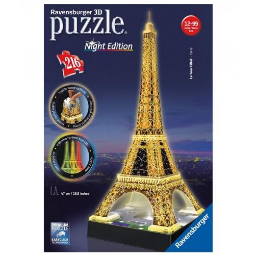 Tūrinė šviečianti dėlionė. Naktinis Eifelio bokštas