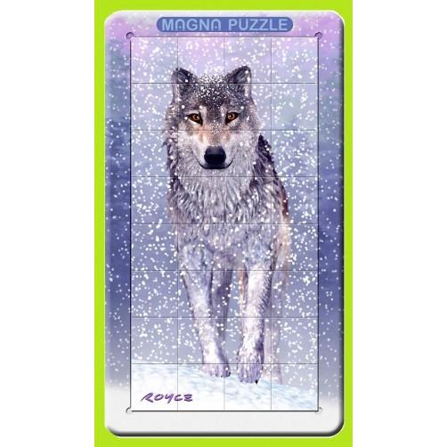 3D magnetinė dėlionė Snieginis vilkas