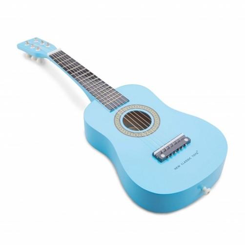Mėlyna medinė gitara