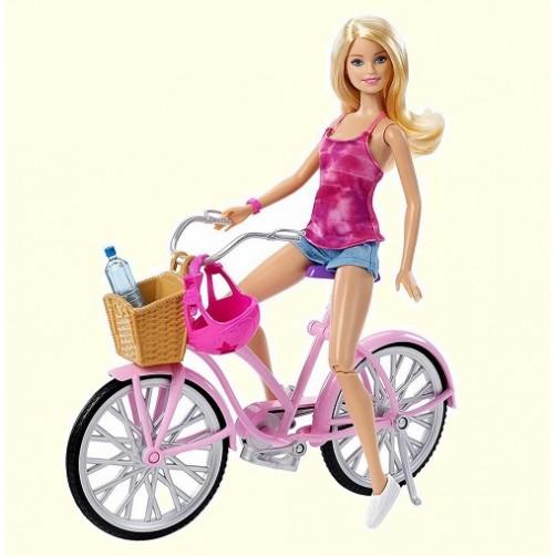Lėlė Barbė su dviračiu DJR54