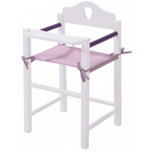 Balta medinė kėdutė Lėlei Roba