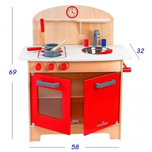 Medinė virtuvėlė Legnoland 37783 su priedais
