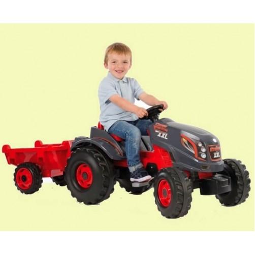 Minamas vaikiškas traktorius Smoby XXL su  priekaba