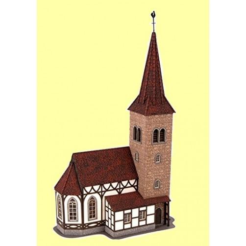 Klijuojama miniatiūra Šv. Jurgio bažnyčia su varpų muzika