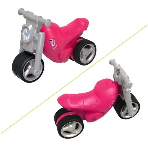 Paspirtukas motociklas rožinis Big