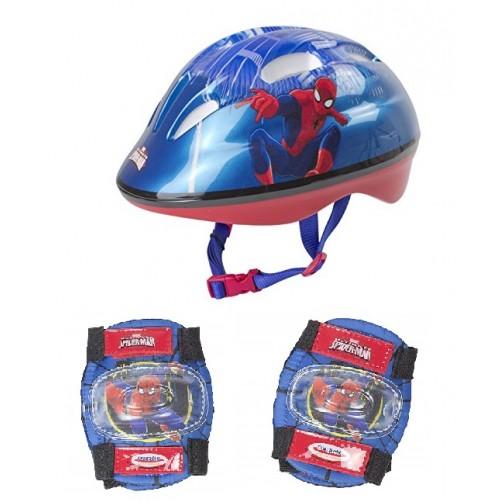 Šalmas S dydis ir alkūnių apsaugos Spider man