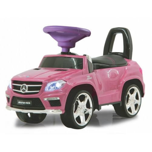 Stumdukas paspirtukas Mercedes AMG rožinis
