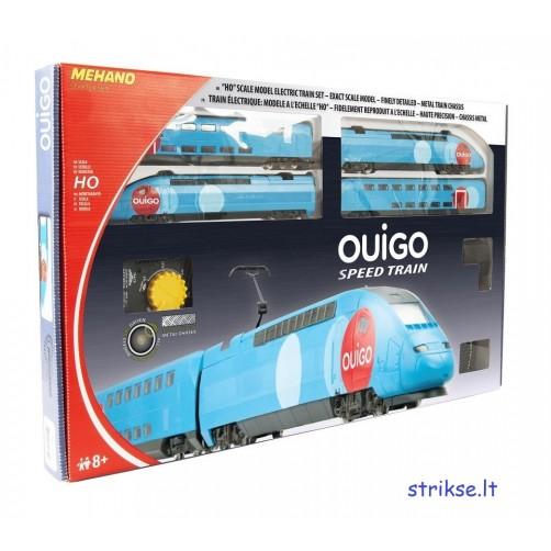 Traukinys su bėgiais Mehano OUIGO speed train