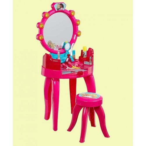 Kosmetikos staliukas su veidrodžiu mergaitėms Barbie